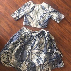 Pattern Print Top & Skirt